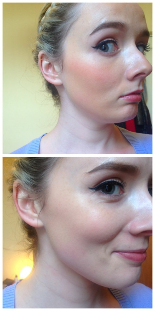 Top: Foundation and Powder Oopma Loompa Bottom: Reapplied Foundation