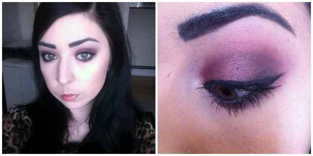 Pearlescent Red Eyeshadow
