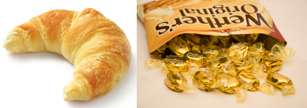 Are you a curvy croissant or  a wonderful werther's? (Pic courtesy of Facebook, Werther's)