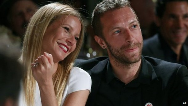 Gwyneth Paltrow and Chris Martin in Jan (Image: AP)