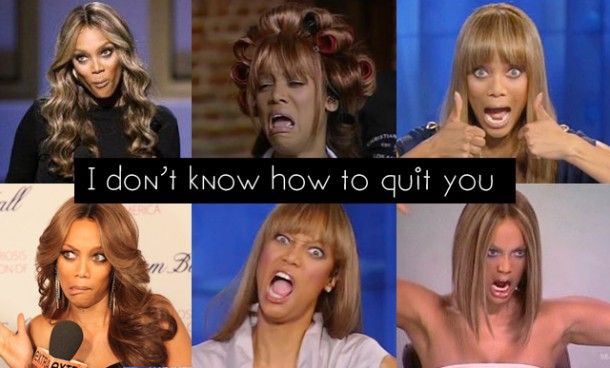 The many faces of Tyra. (Pics courtesy of ANTM)