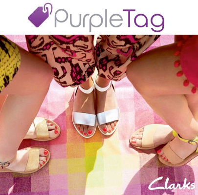 clarks purple tag