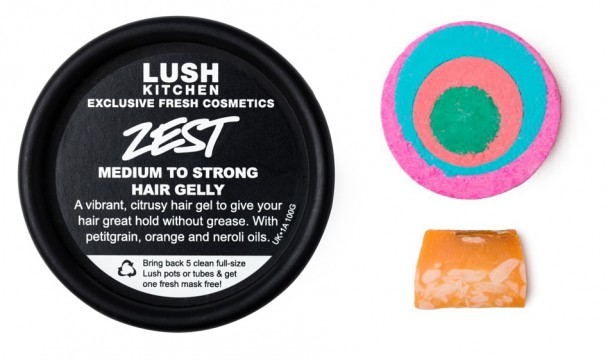 Clockwise from left: Zest Hair Gelly, Granny Takes a Dip, Mangnificent soap