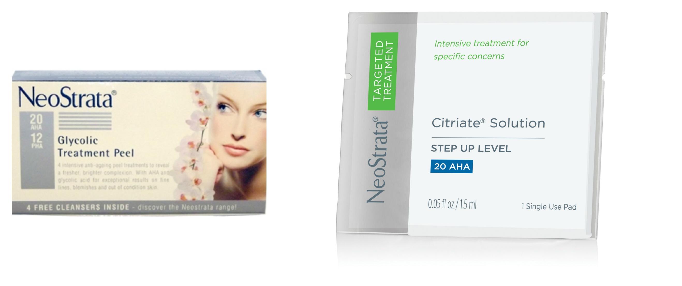 facial treatment pads glycolic acid