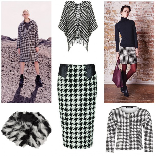 Clockwise from top left: Coat, €40, Penneys (available Oct/Nov); Wrap, €24.99, New Look; Skirt, €69, Phase Eight; Jacket, €25.99, Missguided; Skirt, €32, Littlewoods Ireland; Snood, Accessorize (available in October)