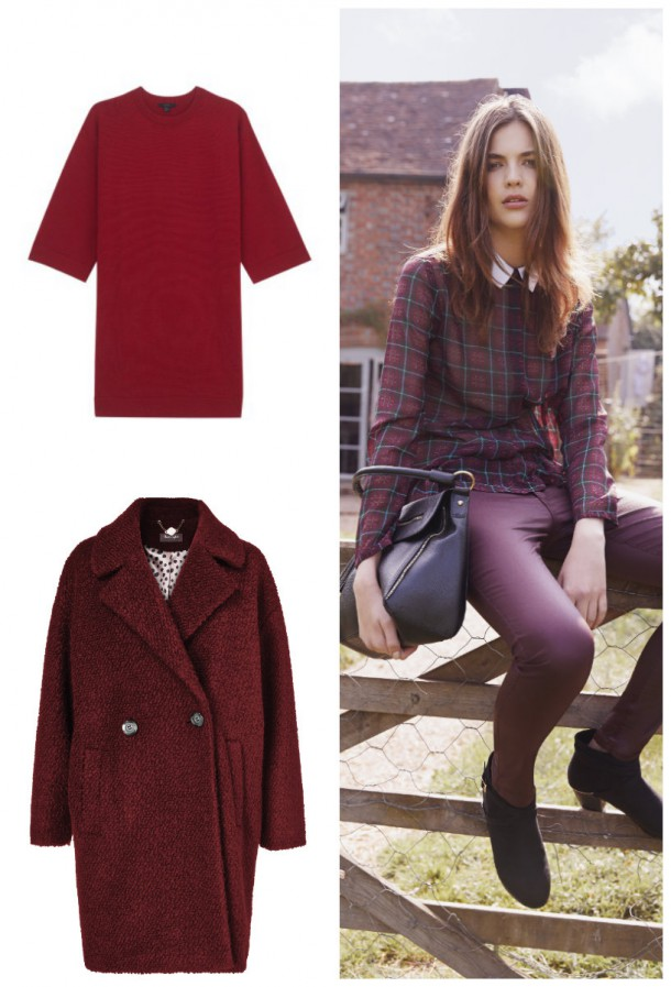 Tunic, €89, Cos; Blouse, Jeans & Bag, from the Autumn Winter collection at Heatons; Coat, €160, Phase Eight