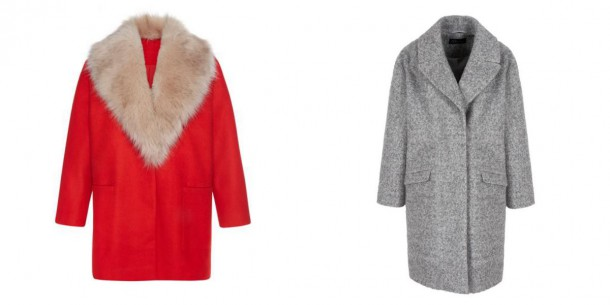 Red Crombie with faux fur collar, €40, Penneys (September); Grey Crombie, €195, Linea Weekend at House of Fraser
