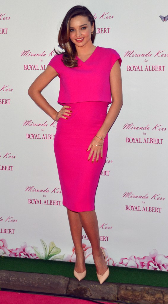 Miranda Kerr Public At Royal Albert Pop-Up Store Sydney