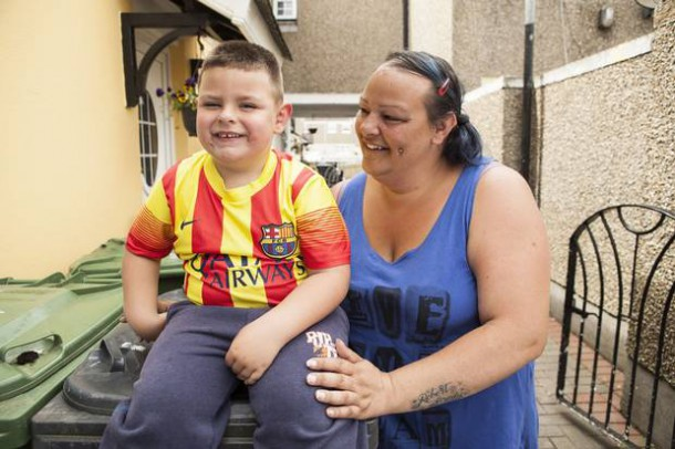 Angelique Joule and her son Brody from TV3's Darndale: Edge of Town