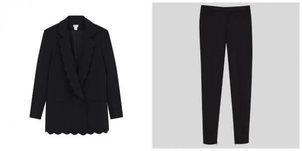 Blazer, €262; Trousers, €170, both from Hoss Intropia
