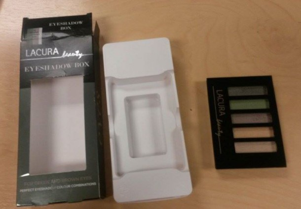 Lacura Eyeshadow Box and packaging