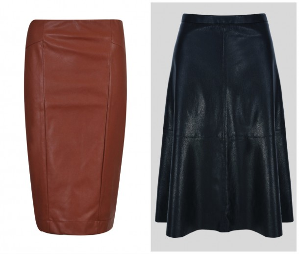 Red Pencil Skirt, €20, Heatons; A-Line Skit, €52, Next