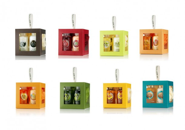Body Shop Gift Cubes