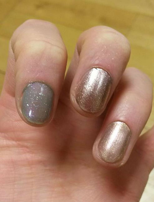 CND polish with top coat