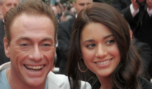 Bianca with her pops Jean Claude