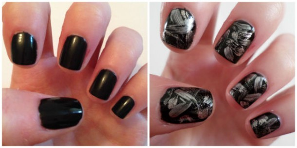 New Year Nails before and after