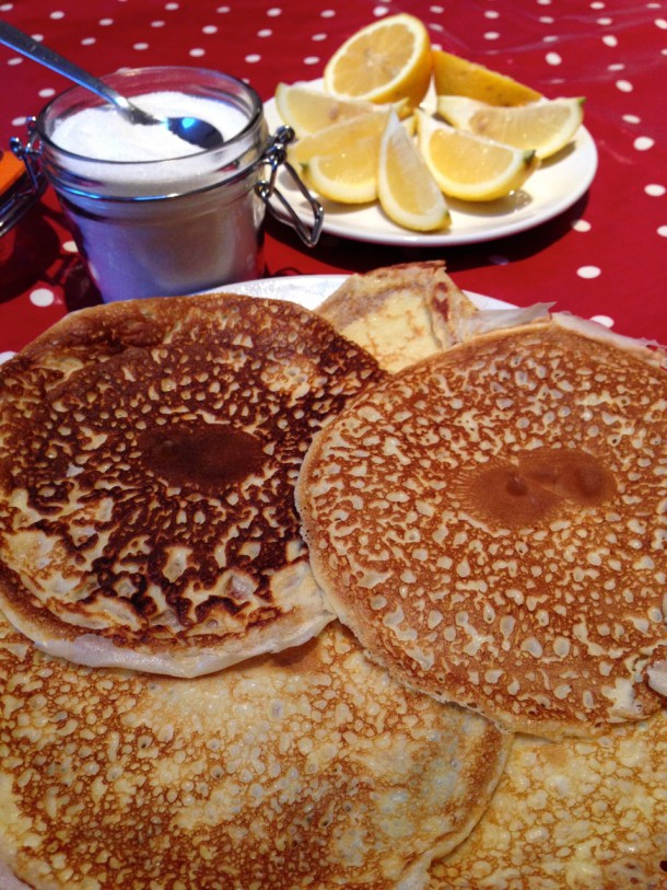 Pancakes close up