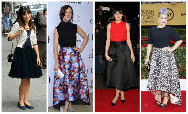 Zooey Deschanel; Juliette Lewis, Lilah Parsons and Kelly Osbourne all love the skirt!