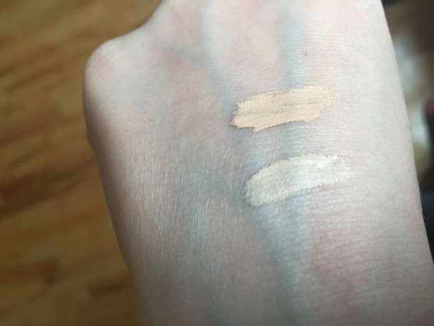 Top: NYX HD Concealer in Fair, Bottom: Nars Radiant Creamy Concealer in Chantilly