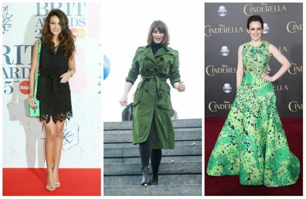 celebrities wearing green