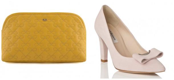 Bag, €179, Anya Hindmarch; Shoes, €150, LK Bennett