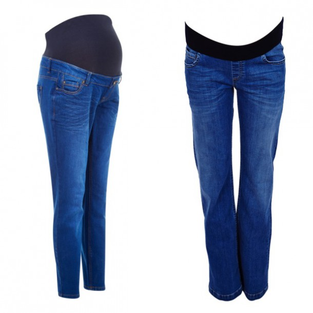 Left, Skinny leg jeans, €29.99, New Look; Straight leg jeans, €47.82, ASOS.com