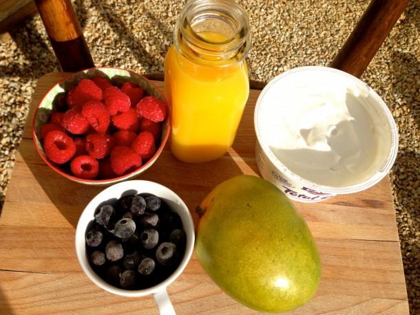 1. smoothie ingredients