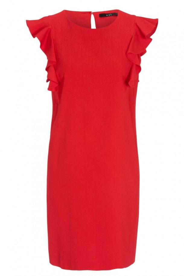Oui Viscose Red Dress
