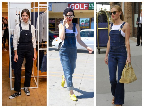 Alexa, Gwen and Kate all love their denim dungarees!