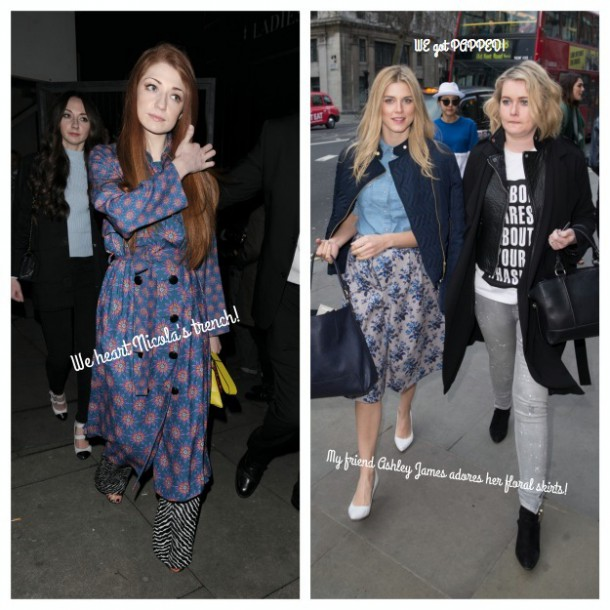 Celebs love florals (except for me in monochrome getting papped!)