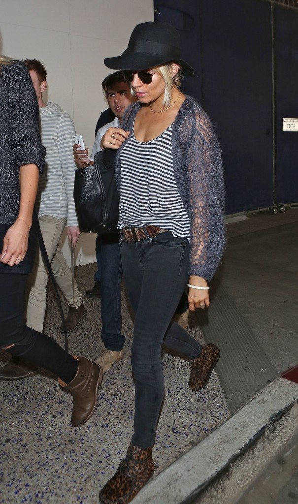 Sienna Miller arrives at LAX in Los Angeles