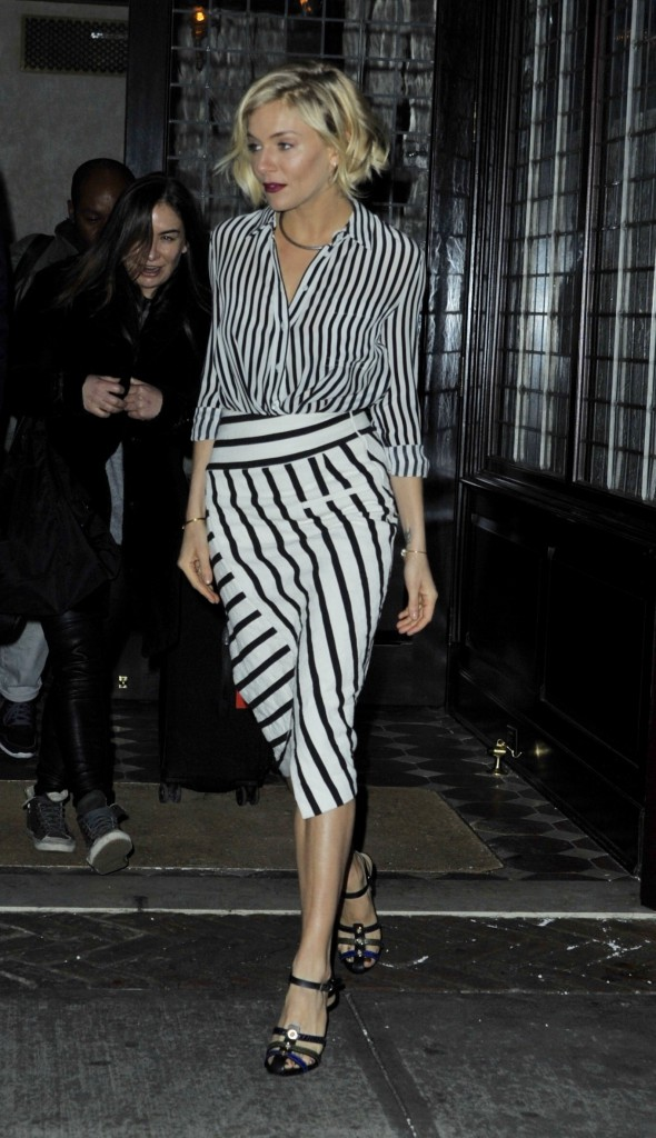 Sienna Miller leaving her hotel