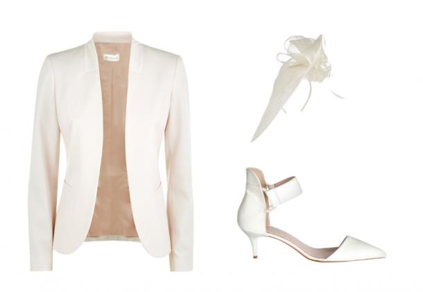 Jacket, Monsoon; Fascinator, Accessorize; Shoes, Faith at Debenhams