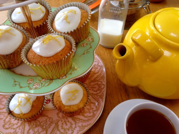 17. Finished Lemon cakes served with tea