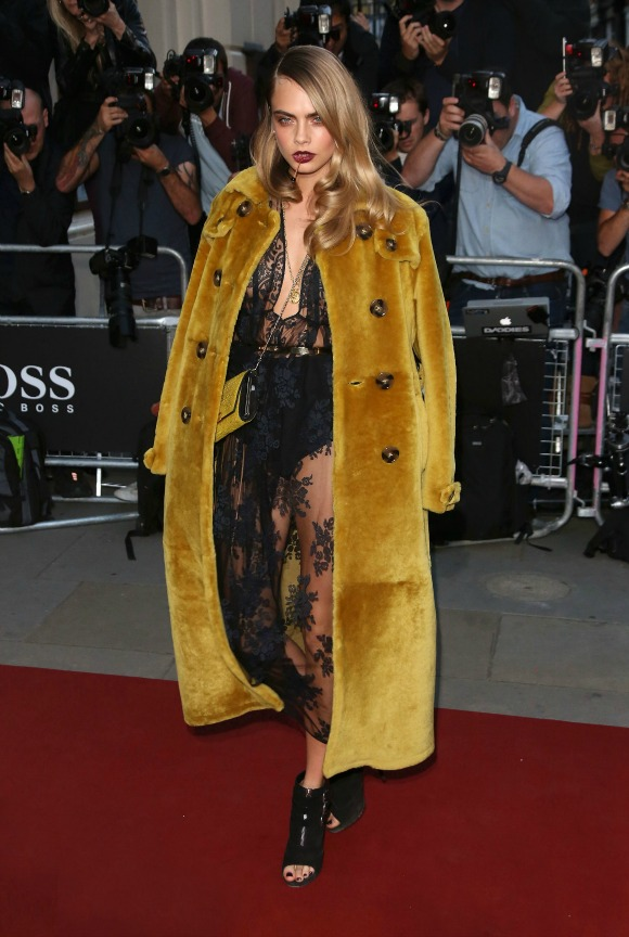 The GQ Awards 2014 held at the Royal Opera House - Arrivals Featuring: Cara Delevingne Where: London, United Kingdom When: 02 Sep 2014 Credit: Lia Toby/WENN.com