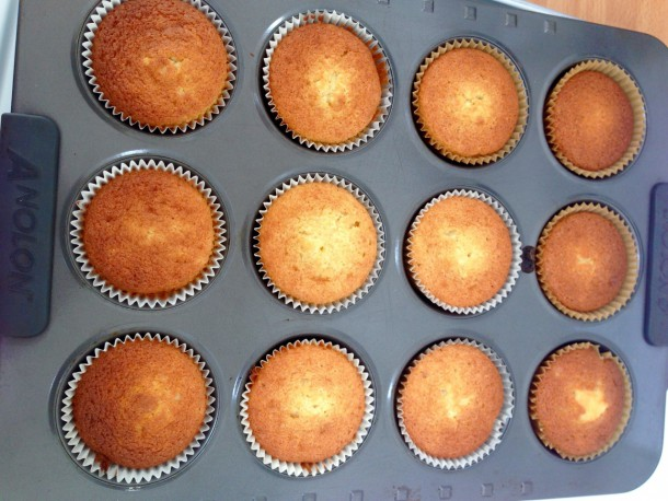 11.The baked cupcakes
