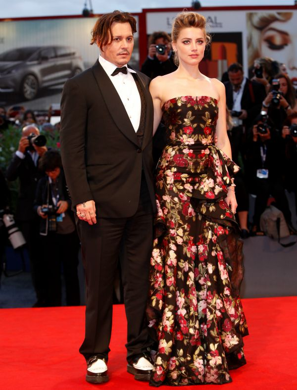 72nd Venice Film Festival - 'The Danish Girl' - Premiere Featuring: Johnny Depp, Amber Heard Where: Venice, Italy When: 05 Sep 2015 Credit: WENN.com **Not available for publication in Germany**