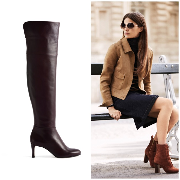 Round toe boots, available from Hobbs at Arnotts and Dundrum Town Centre; Ankle boots and outfit from Next