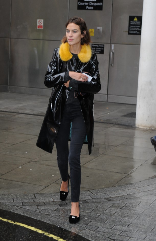 Alexa Chung leaving the BBC Radio 1 studios Featuring: Alexa Chung Where: London, United Kingdom When: 22 Sep 2015 Credit: WENN.com