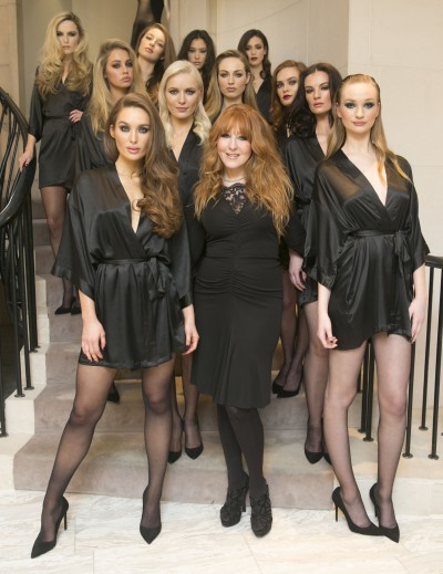 NO REPRO FEE 13/11/2014.Charlotte Tilbury one of the worlds biggest make-up artist, unveils her wardrode of make-up looks and new collection in Brown Thomas Dublin with the help 11 of Ireland`s top models. Photo: Leon Farrell/Photocall Ireland.