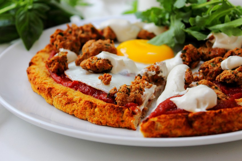 Breakfast Sausage and Egg Pizza (22)