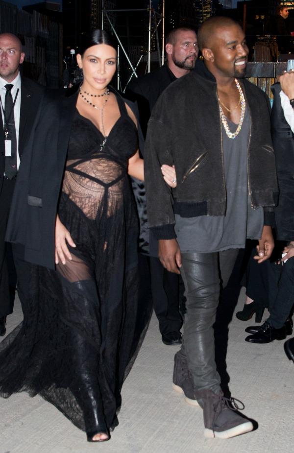 New York Fashion Week Spring/Summer 2016 - Givenchy - Front Row Featuring: Kim Kardashian, Kanye West Where: New York, New York, United States When: 11 Sep 2015 Credit: Jeff Grossman/WENN.com