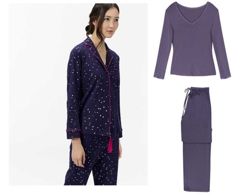 Left: Star PJs from a selection at Joules; Heidi Klum top, €52.50 and matching bottoms, €49 both from Brown Thomas