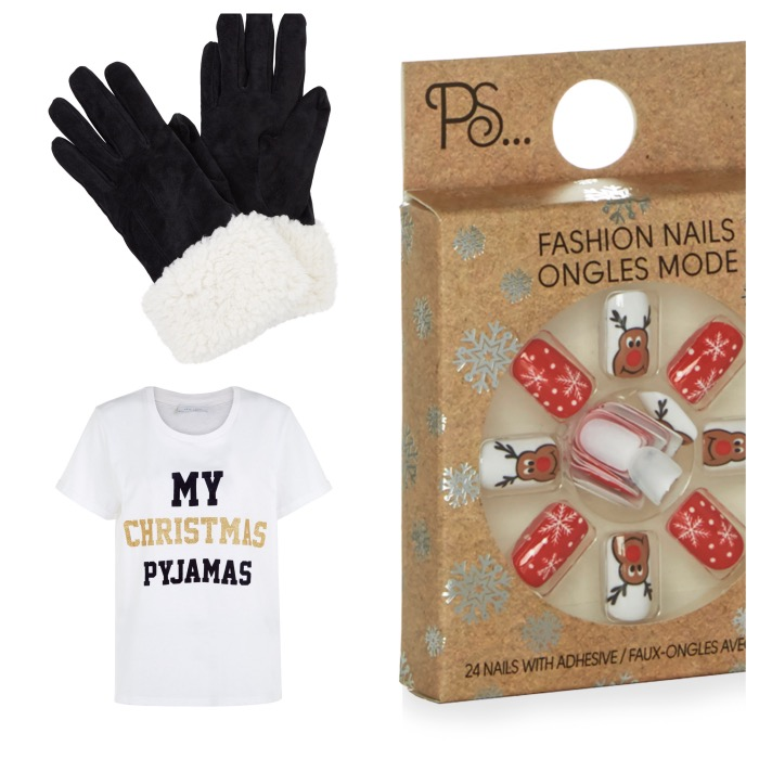 Gloves, €17.99, New Look; Nails, €1.50, Penneys; Pyjamas, €9.99, New Look