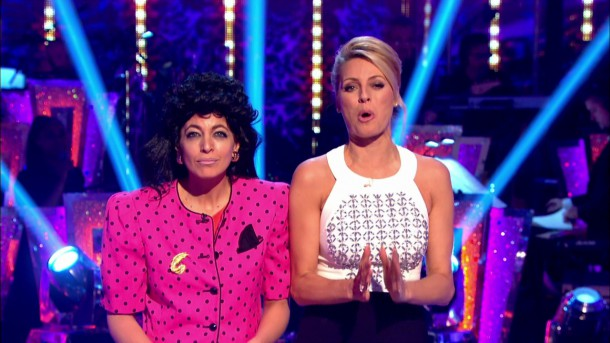 Claudia Winkleman and Tess Daly presenting the results show of 'Strictly Come Dancing'. Broadcast on BBC1 HD. Featuring: Claudia Winkleman, Tess Daly Where: United Kingdom When: 18 Oct 2015 Credit: Supplied by WENN **WENN does not claim any ownership including but not limited to Copyright, License in attached material. Fees charged by WENN are for WENN's services only, do not, nor are they intended to, convey to the user any ownership of Copyright, License in material. By publishing this material you expressly agree to indemnify, to hold WENN, its directors, shareholders, employees harmless from any loss, claims, damages, demands, expenses (including legal fees), any causes of action, allegation against WENN arising out of, connected in any way with publication of the material.**