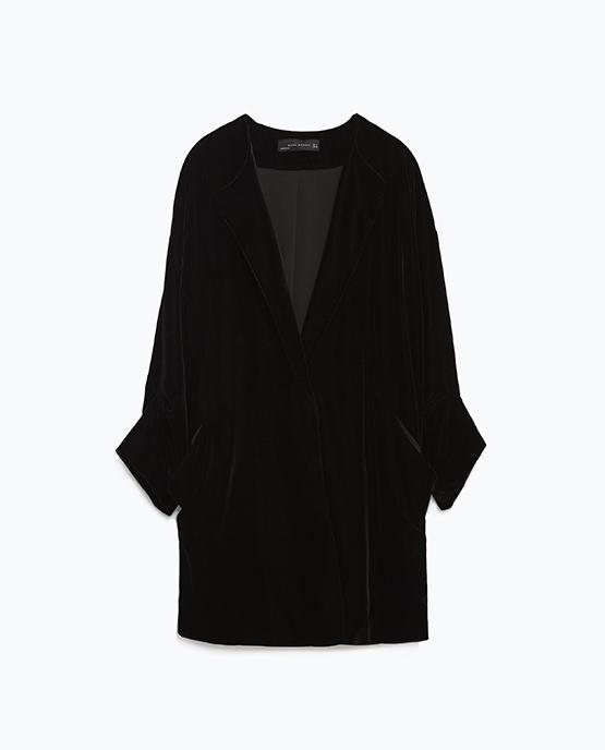 Velvet Blazer, Zara