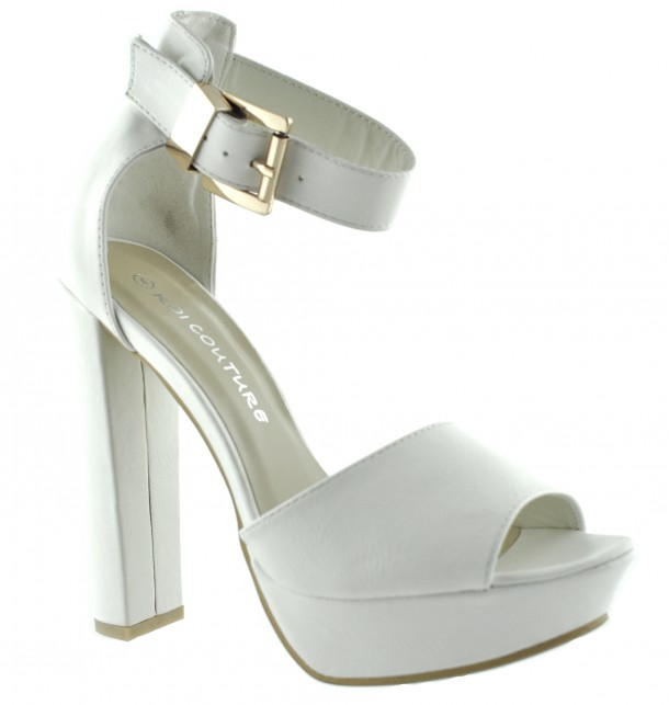 Koycouture - White Sandals High Heel-1