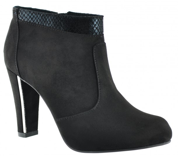 Tamaris - 25052-25 - Black Heel Ankle Boots (1)