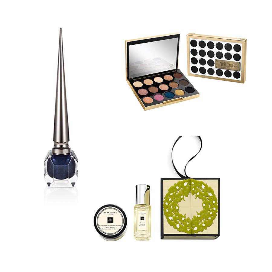 Christian Louboutin nail colour, €46; Gwen Stefani x Urban Decay palette, €46; Jo Malone set, €28