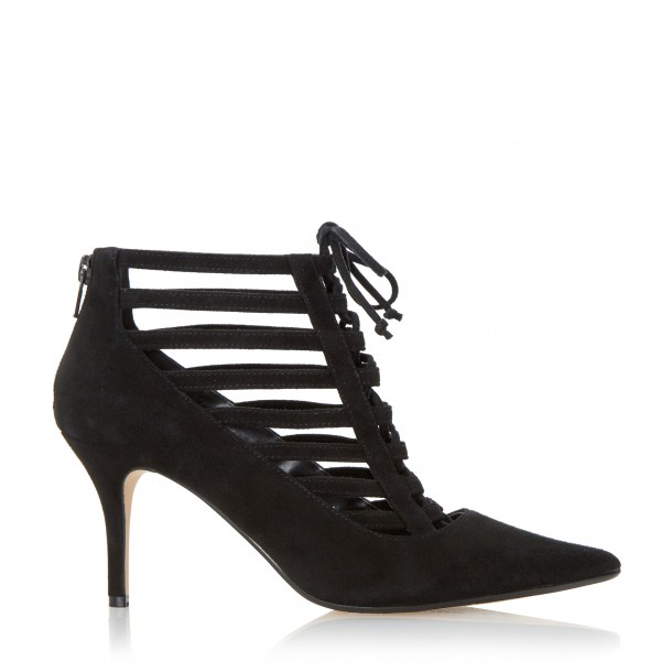 Midi heel court booties, available from Dune